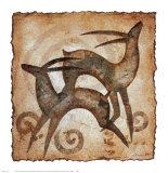 Spielende Antilopen Kunstdrucke von  Raya