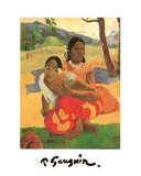 Deux Thaitiennes Accroupiees Posters by Paul Gauguin