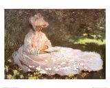 'A Doggone Christmas' Dachshund Lámina por Claude Monet