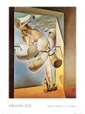 Jeune vierge autosodomisée par les cornes de sa propre chasteté Affiches par Salvador Dalí