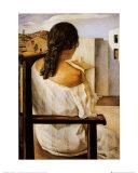 Junges Mädchen von hinten Kunstdrucke von Salvador Dalí