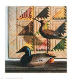 Birds and Bear Tracks, 1990 Kunstdrucke von Pauline Eblé Campanelli