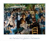 Le Moulin de la Galette a Montmartre Prints by Pierre-Auguste Renoir