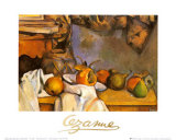 Straw Vase and Plate with Fruit Prints by Paul Cézanne