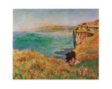 Falaise a Varengeville Prints by Claude Monet