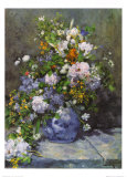 Gro&#223;e Blumenvase Kunst von Pierre-Auguste Renoir