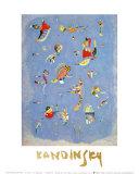 Cielo azul, 1940 Láminas por Wassily Kandinsky