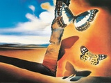 Landschap met vlinders Affiches van Salvador Dalí