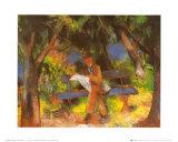 Lesender Mann in Park, c.1914 Prints by Auguste Macke