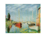 Barche Sportive Poster by Claude Monet