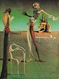 Figura femenina con cabeza de flores Arte por Salvador Dalí