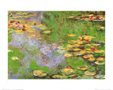 Claude Monet - Water Lily Pond at Giverny - Reprodüksiyon