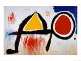 Personagge Devan Le Soleil Posters av Joan Miró