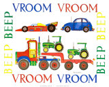 Vroom Vroom Beep Beep Print by Marnie Bishop Elmer