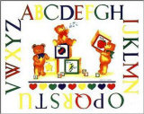Alphabet Block Bears Art by Marnie Bishop Elmer