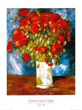Mohnblumen, 1886 Láminas por Vincent van Gogh