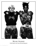 Andy Warhol and Jean-Michel Basquiat Print by Michael Halsband