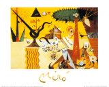 Terre Labouree, c.1923 Plakat av Joan Miró