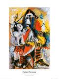 Musketier und Amor Poster von Pablo Picasso
