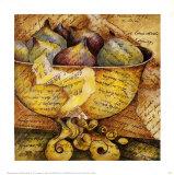 Texte et fruits II Posters par Inka Zlin
