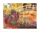 A ponte japonesa Poster por Claude Monet
