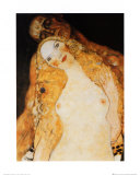 Adam and Eve Print by Gustav Klimt