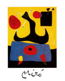 Femme Assise Print by Joan Miró