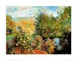 Stiller Winkel im Garten von Montgeron Print van Claude Monet