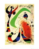 Nacht Kunstdruck von Joan Miró