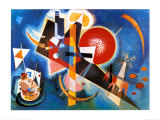 En bleu (1925) Posters par Wassily Kandinsky