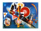 Sinisenä, n.1925 Julisteet tekijänä Wassily Kandinsky