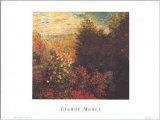 Corner of Garden at Montgeron Posters by Claude Monet