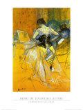 Femme Mettant Son Corset Art by Henri de Toulouse-Lautrec