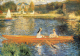 The Seine at Asnieres Posters by Pierre-Auguste Renoir