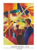 Seiltanzer, 1914 Posters af Auguste Macke