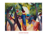 Promenade, c.1913 Posters by Auguste Macke
