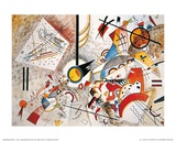 Aquarell voller Leben, ca. 1923 Kunstdruck von Wassily Kandinsky