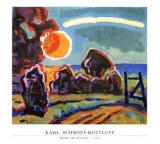 Mond im August, 1963 Affischer av Karl Schmidt-Rottluff