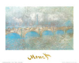 Waterloo Bridge Posters by Claude Monet