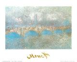 Waterloo Bridge ポスター : クロード・モネ