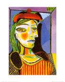 Girl with Red Beret Plakater av Pablo Picasso