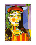Girl with Red Beret Art by Pablo Picasso