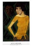 Maschka mit Maske Prints by Otto Mueller