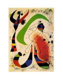 Nacht Poster van Joan Miró