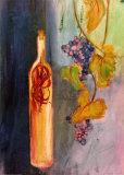 Uvas colgando Lámina por Emma Stanghon