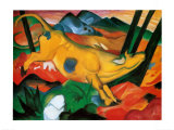 Vaca amarilla, 1911 Lminas por Franz Marc