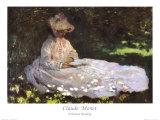 Mujer leyendo Póster por Claude Monet