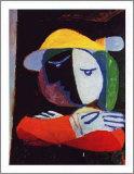 Mujer en el balcón, 1937 Reproducción por Pablo Picasso