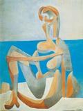 Baigneuse Assise au Bord de la Mer, c.1930 Print by Pablo Picasso