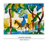 Esel mit Reiter Poster von Auguste Macke
